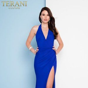 Terani Coture Royal Blue Prom Pagent Dress Size 6